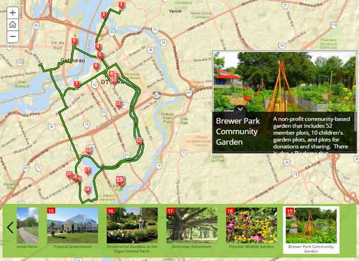 Garden Promenade Routes Map