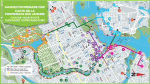 Garden Promenade Routes map Ottawa 2019